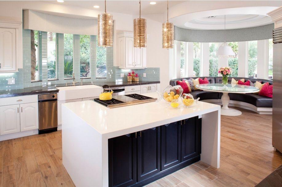 кухня с эркером идеи дизайна