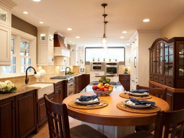 кухня с круглым столом декор идеи