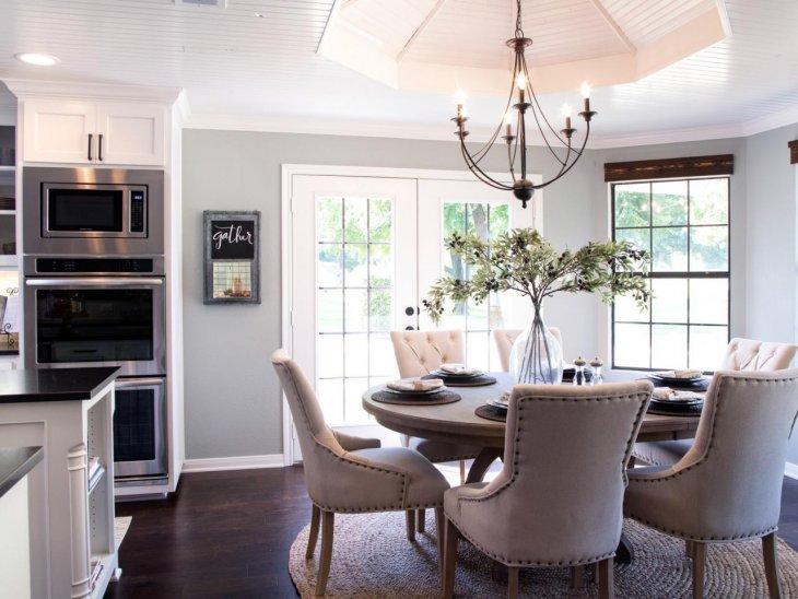 кухня с круглым столом фото декор