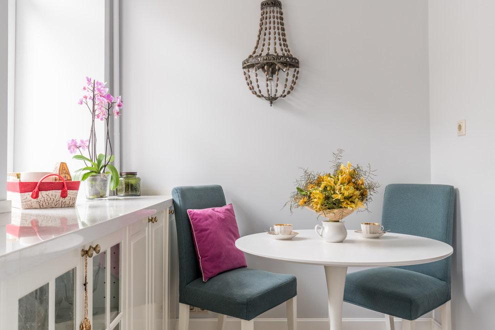 кухня с круглым столом фото дизайна