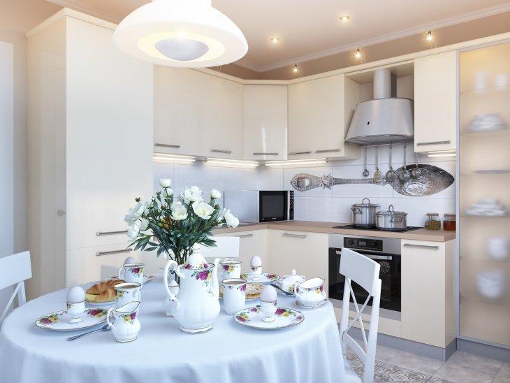 кухня с круглым столом фото интерьера