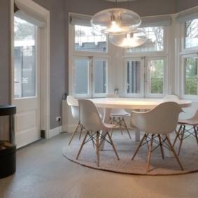 кухня с круглым столом идеи декор