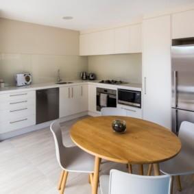 кухня с круглым столом идеи дизайн