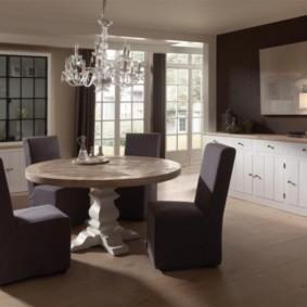 кухня с круглым столом идеи интерьер