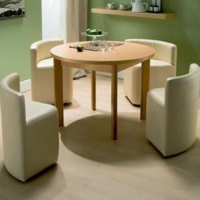 кухня с круглым столом идеи интерьера