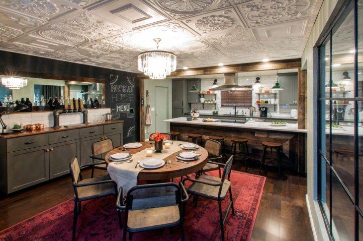 кухня с круглым столом идеи