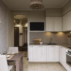 Место для телевизора в небольшой кухне