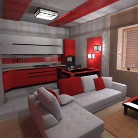 кухня совмещенная с залом дизайн идеи