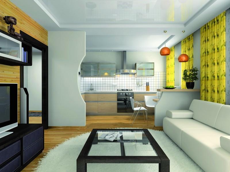кухня совмещенная с залом фото интерьера