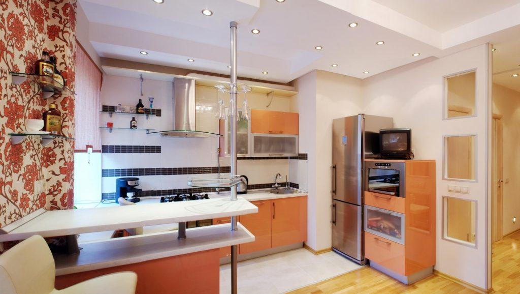 кухня совмещенная с залом фото виды