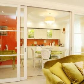 кухня совмещенная с залом идеи дизайн