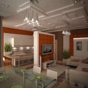 кухня совмещенная с залом идеи дизайна