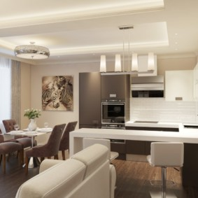 кухня совмещенная с залом варианты фото