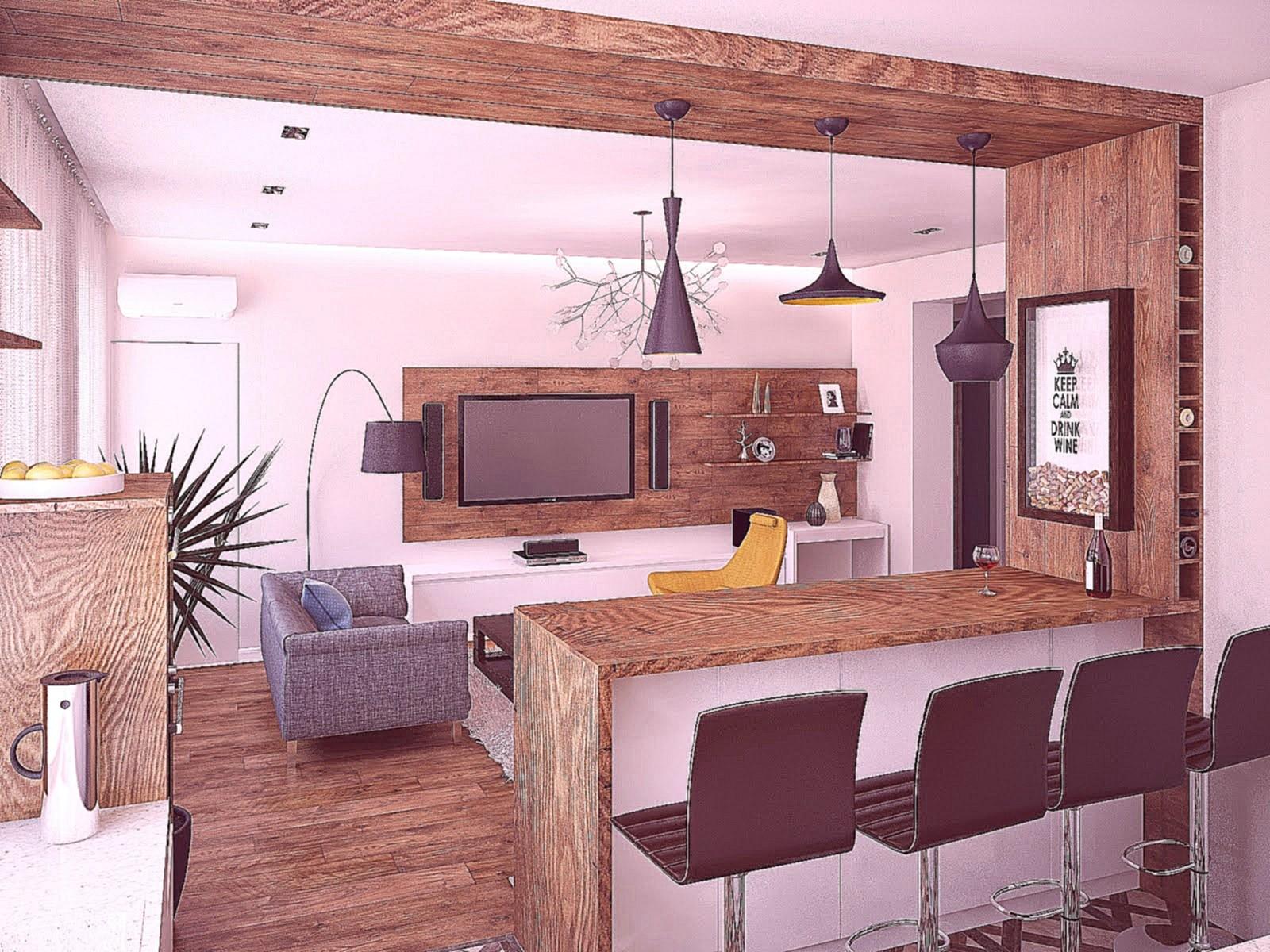 кухня совмещенная с залом дизайн фото