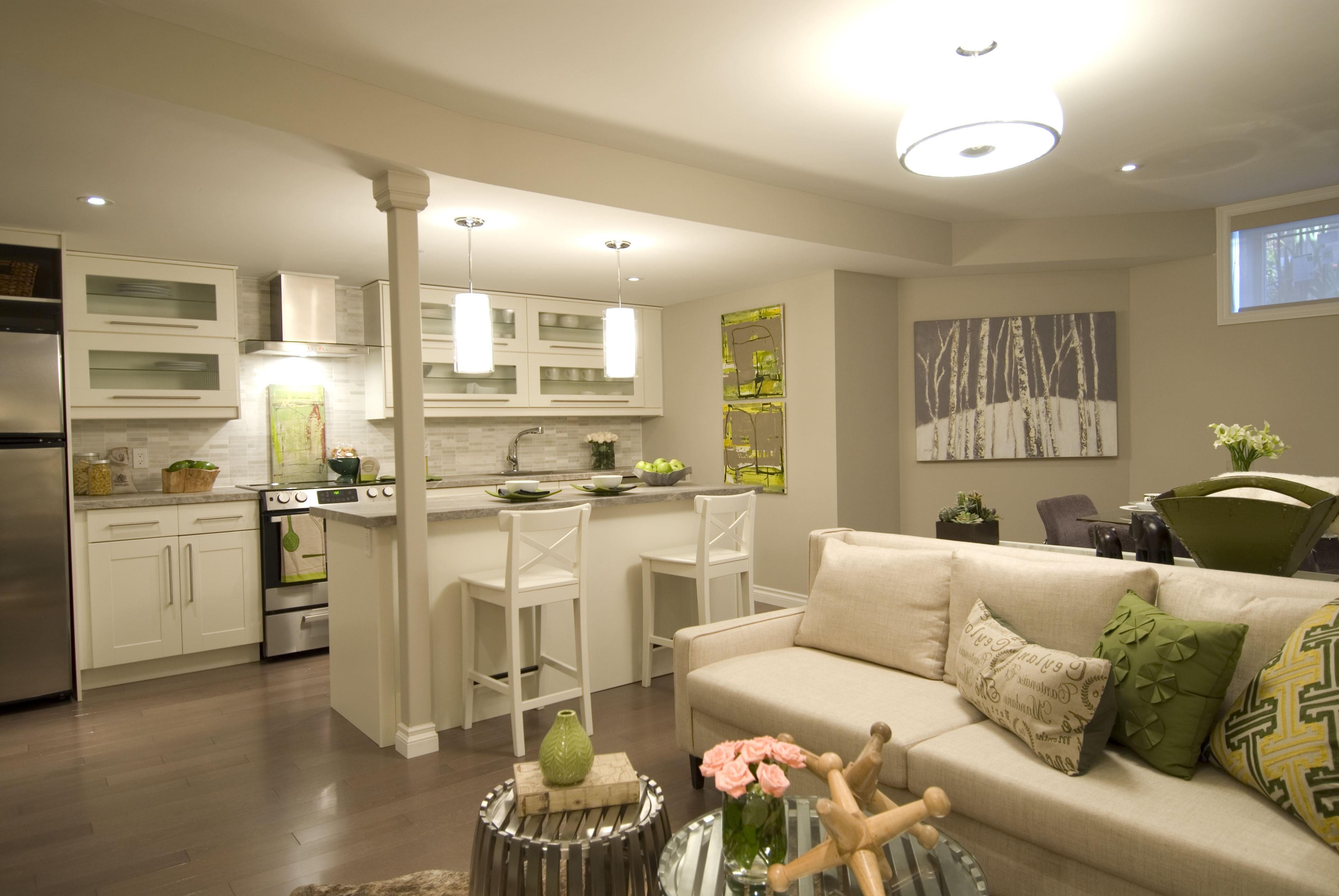 кухня совмещенная с залом дизайн