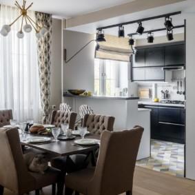 кухня совмещенная с залом фото оформление