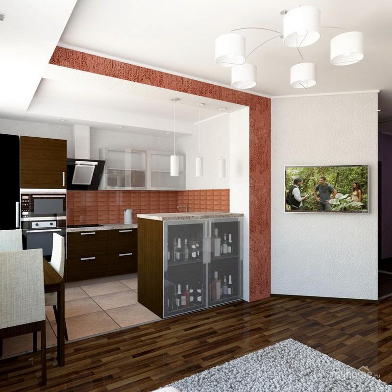кухня совмещенная с залом фото варианты