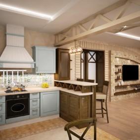 кухня совмещенная с залом идеи оформления