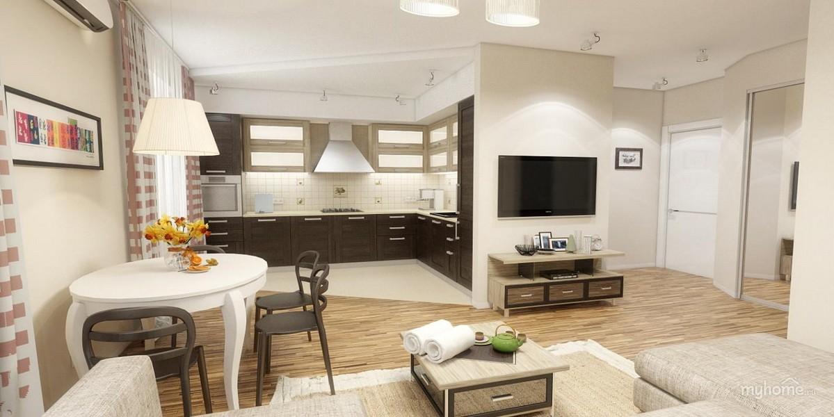 кухня совмещенная с залом идеи варианты
