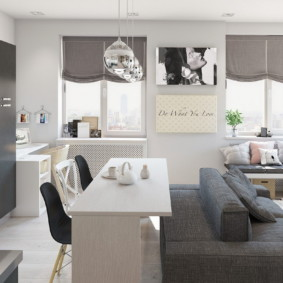 кухня совмещенная с залом оформление фото