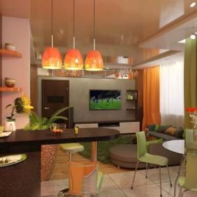 кухня совмещенная с залом виды идеи