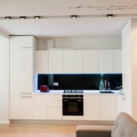 кухня студия в квартире дизайн