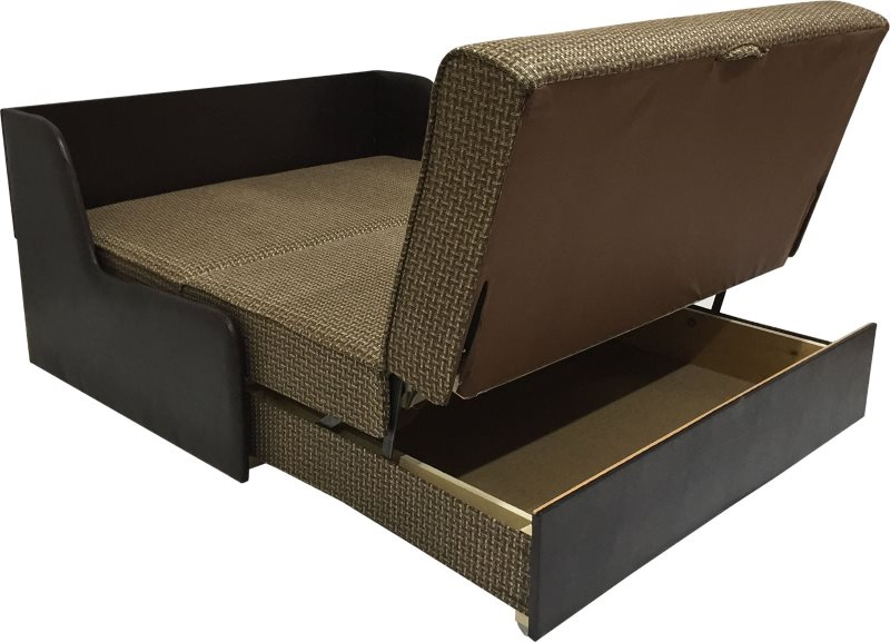 Темно-коричневый диван Аккордеон для кухни