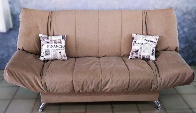 Кухонный диван системы клик кляк с тканевой обивкой