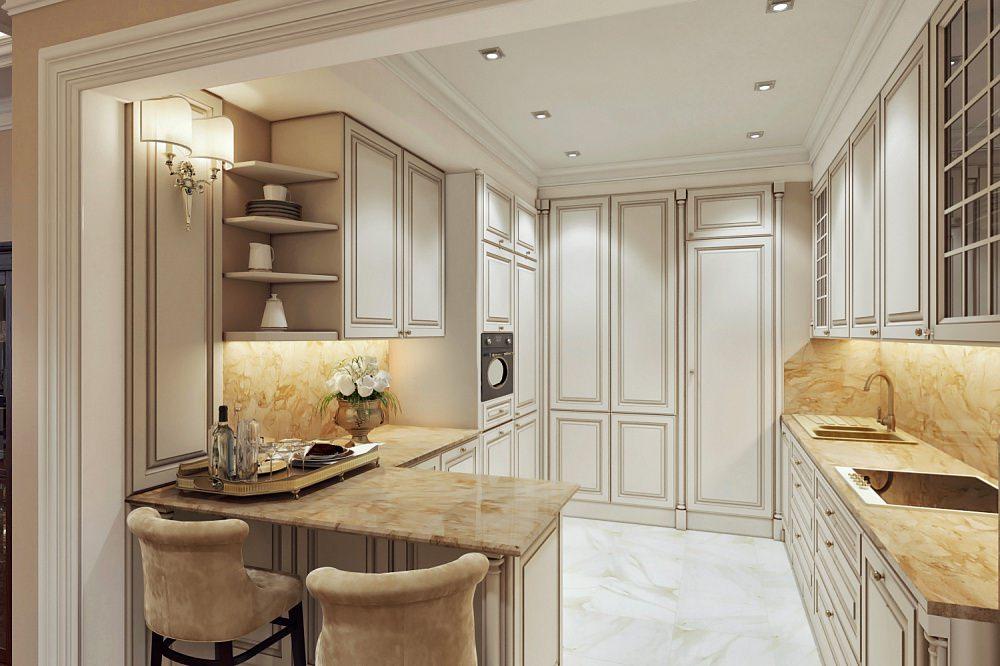 кухонный гарнитур с барной стойкой дизайн
