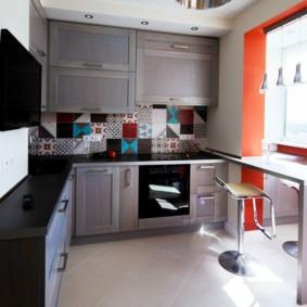 кухонный гарнитур с барной стойкой фото дизайна