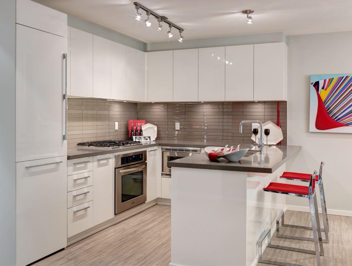 кухонный гарнитур с барной стойкой фото идеи