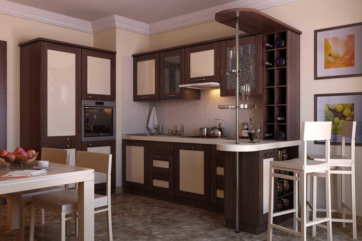 кухонный гарнитур с барной стойкой фото интерьера