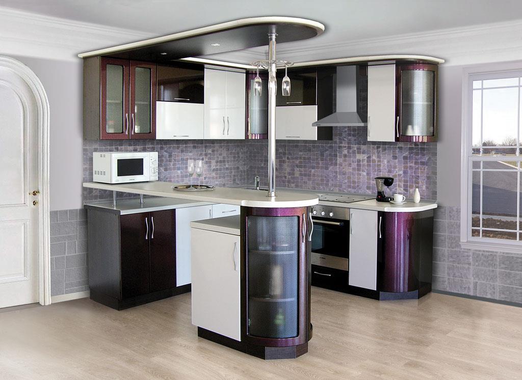 кухонный гарнитур с барной стойкой фото