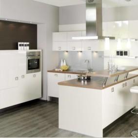 кухонный гарнитур с барной стойкой идеи дизайн