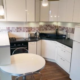 кухонный гарнитур с барной стойкой идеи дизайна