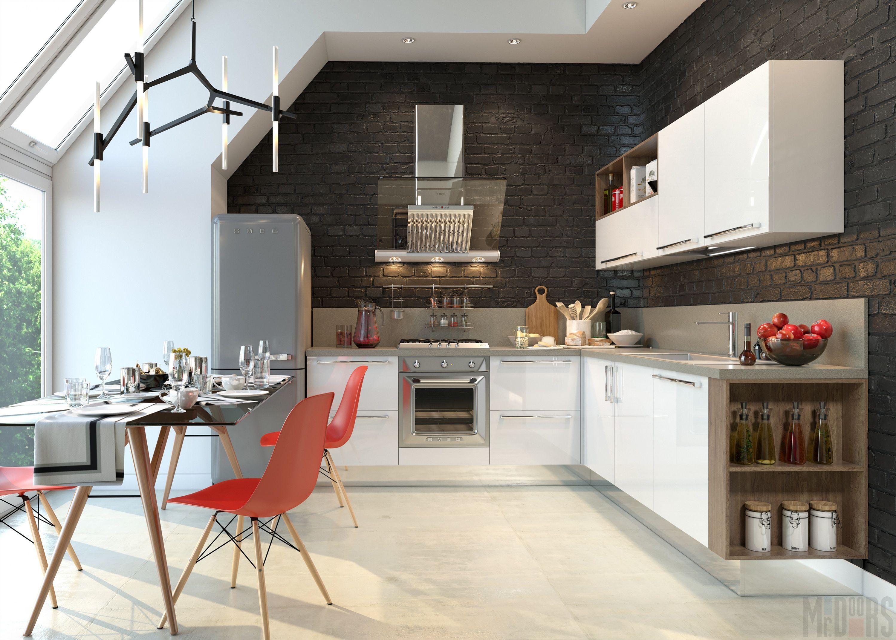современный дизайн кухни 2019