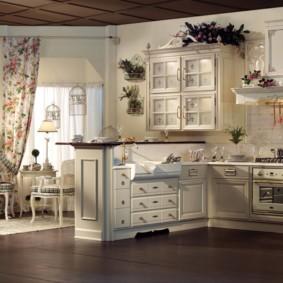 кухня в средиземноморском стиле фото
