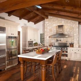 кухня в средиземноморском стиле фото интерьер