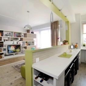 кухня гостиная 22 квадратных метра