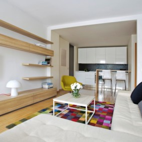 кухня гостиная 22 квадратных метра фото дизайн