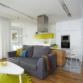 кухня гостиная 22 квадратных метра идеи виды