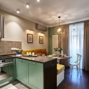 кухня гостиная 22 квадратных метра виды