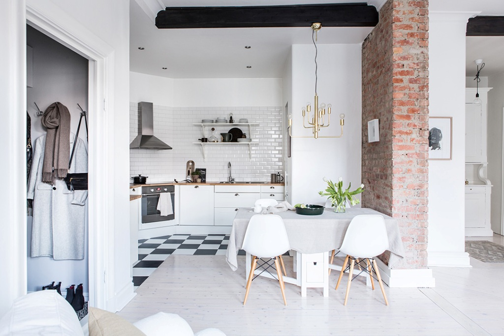 кухня гостиная 22 квадратных метра декор