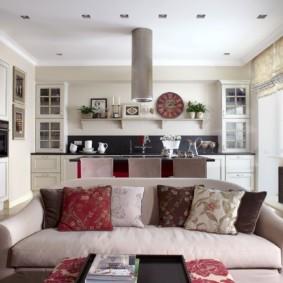 кухня гостиная 22 квадратных метра фото дизайна