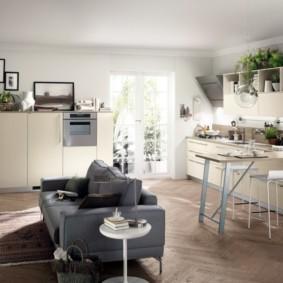 кухня гостиная 22 квадратных метра фото варианты