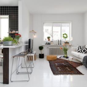 кухня гостиная 22 квадратных метра идеи интерьер
