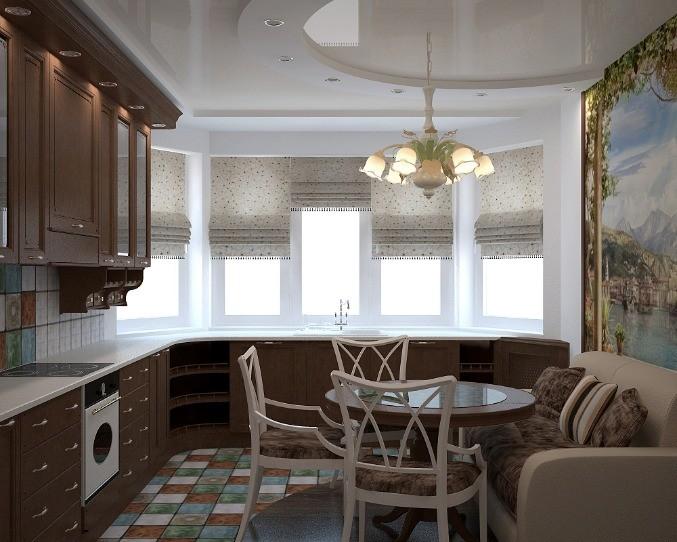 кухня с эркером фото виды