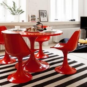 кухня с круглым столом дизайн