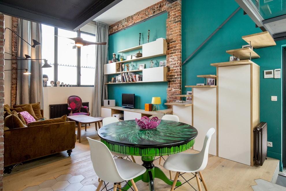 кухня с круглым столом дизайн идеи