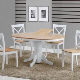 кухня с круглым столом фото идеи